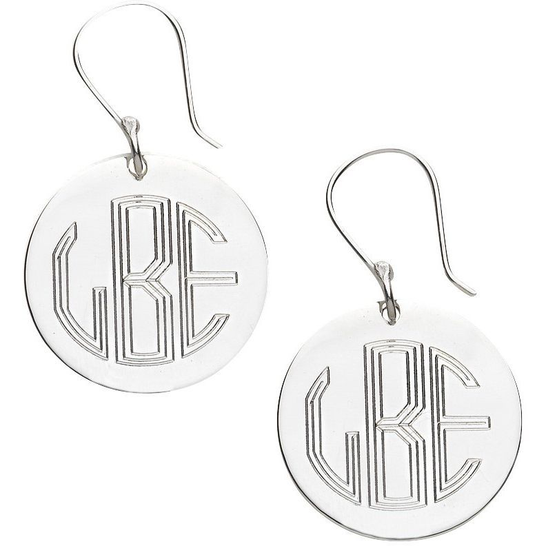 French Wire Engraved Earrings