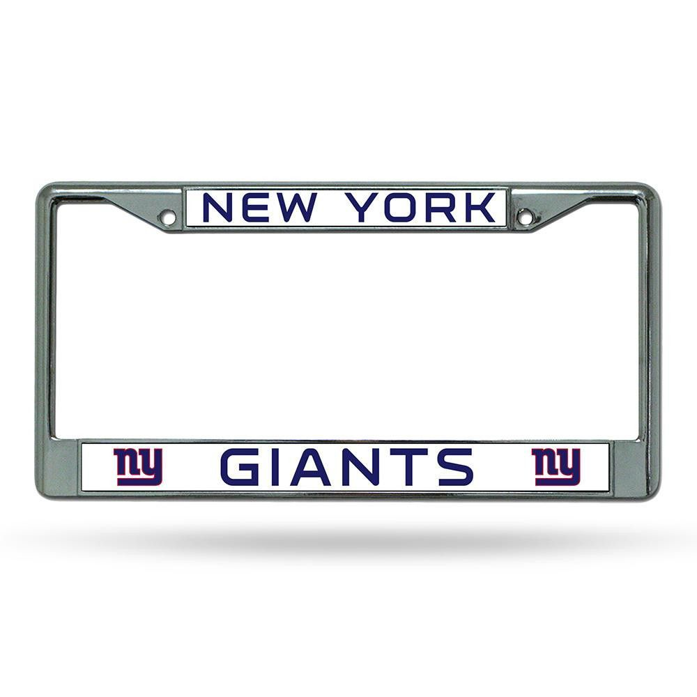 New York Giants NFL Chrome License Plate Frame