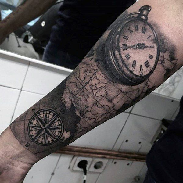 200 popular pocket watch tattoo and meanings 2017. Black Bedroom Furniture Sets. Home Design Ideas