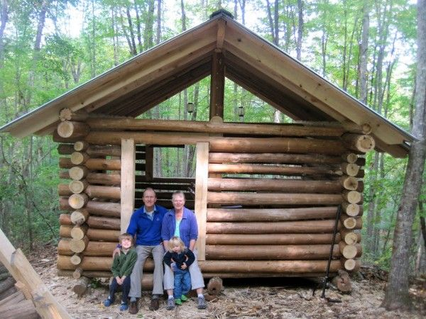 Build Your Own Tiny Log Cabin Log Home Plans Pinterest