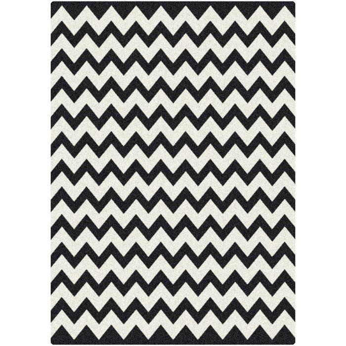 Chevron Rug Intriguing Interiors Black White