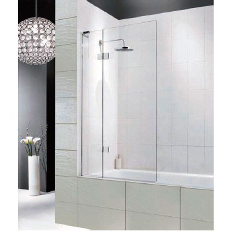 Artin Hinged Bathtub Screen With Square Edge Shower Bathroom