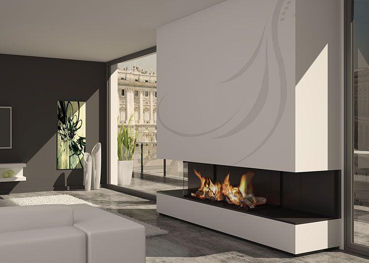 chimenea moderna modelo havana - Chimenea Moderna