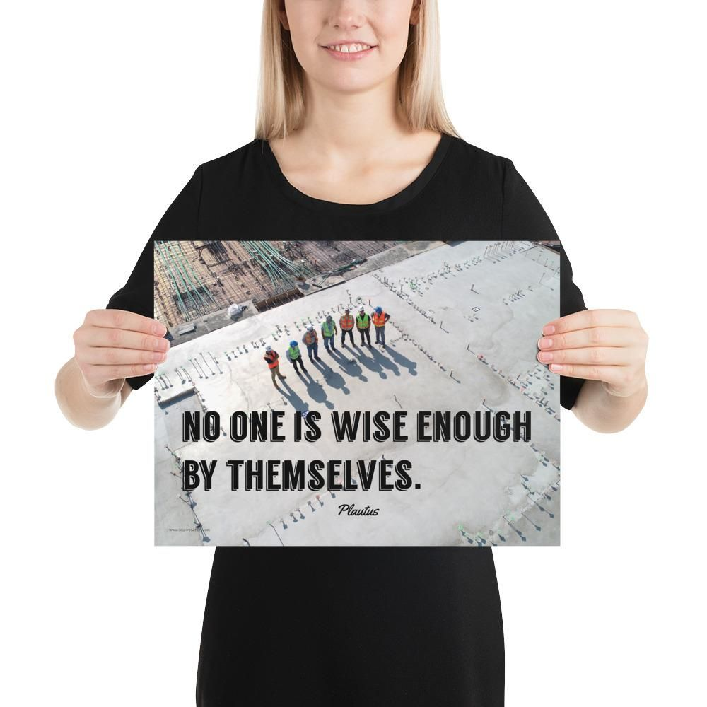 Wise Enough - Premium Safety Poster - 12×16