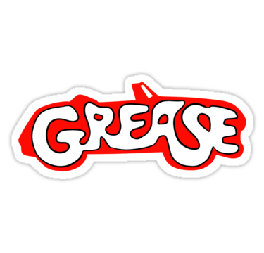 Grease logo stickers by natsreksio redbubble