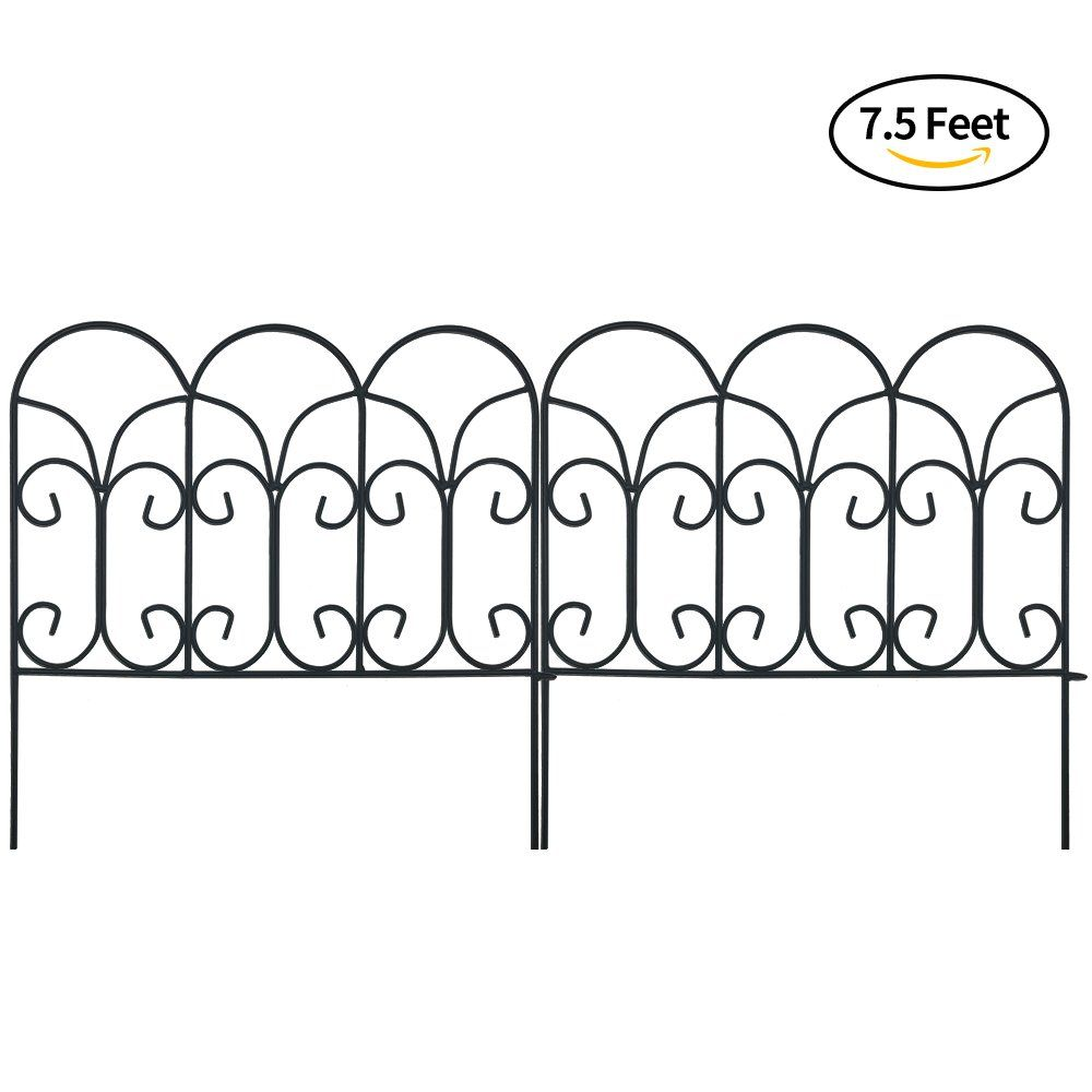 Amagabeli Decorative Garden Fence Coated Metal Outdoor Rustproof ...