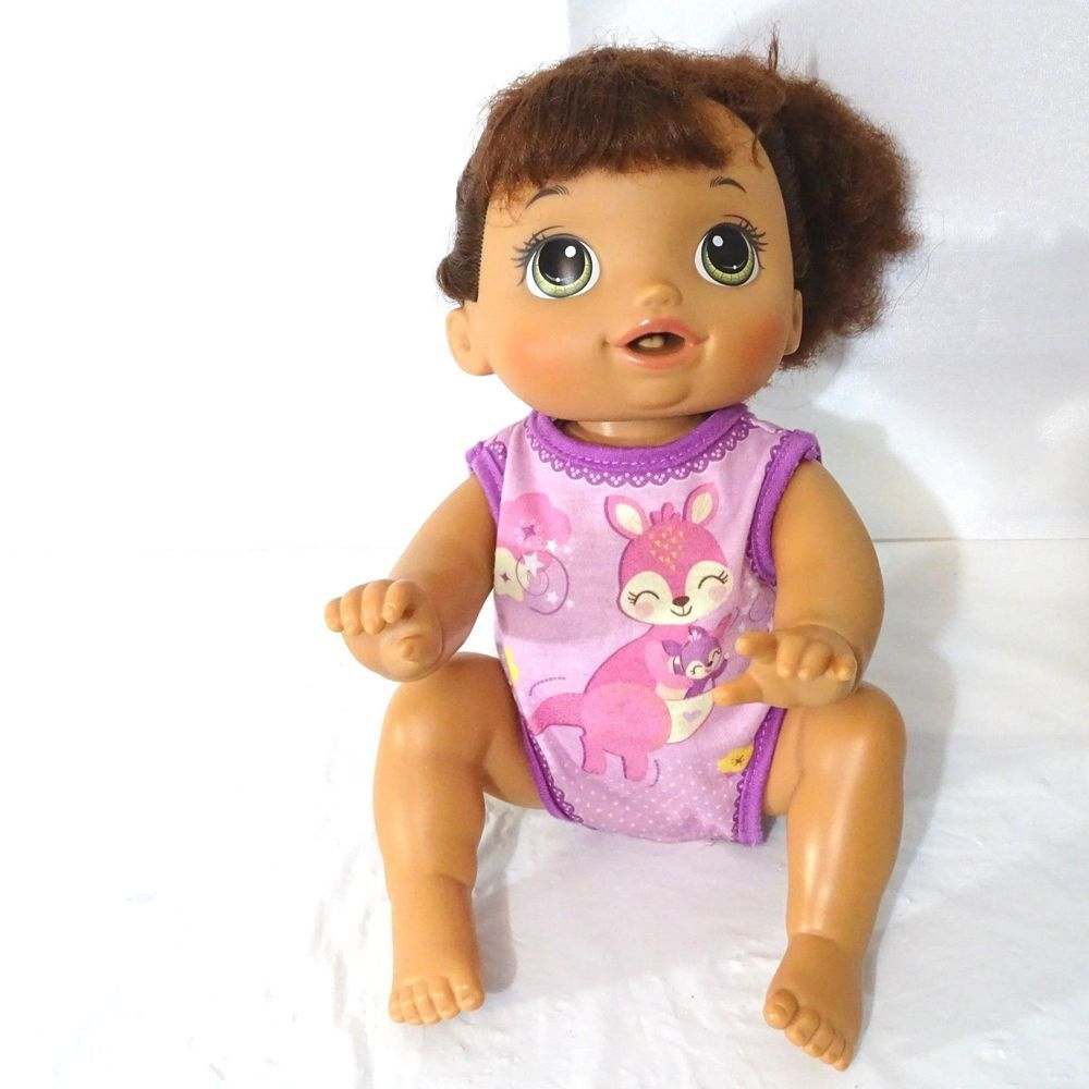 Hasbro Baby Alive Baby Go Bye Bye Brunette Doll Crawling Talking ...