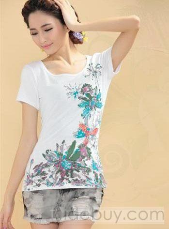 デラックススリムショートスリーブ中国スタイルレトロTシャツ
