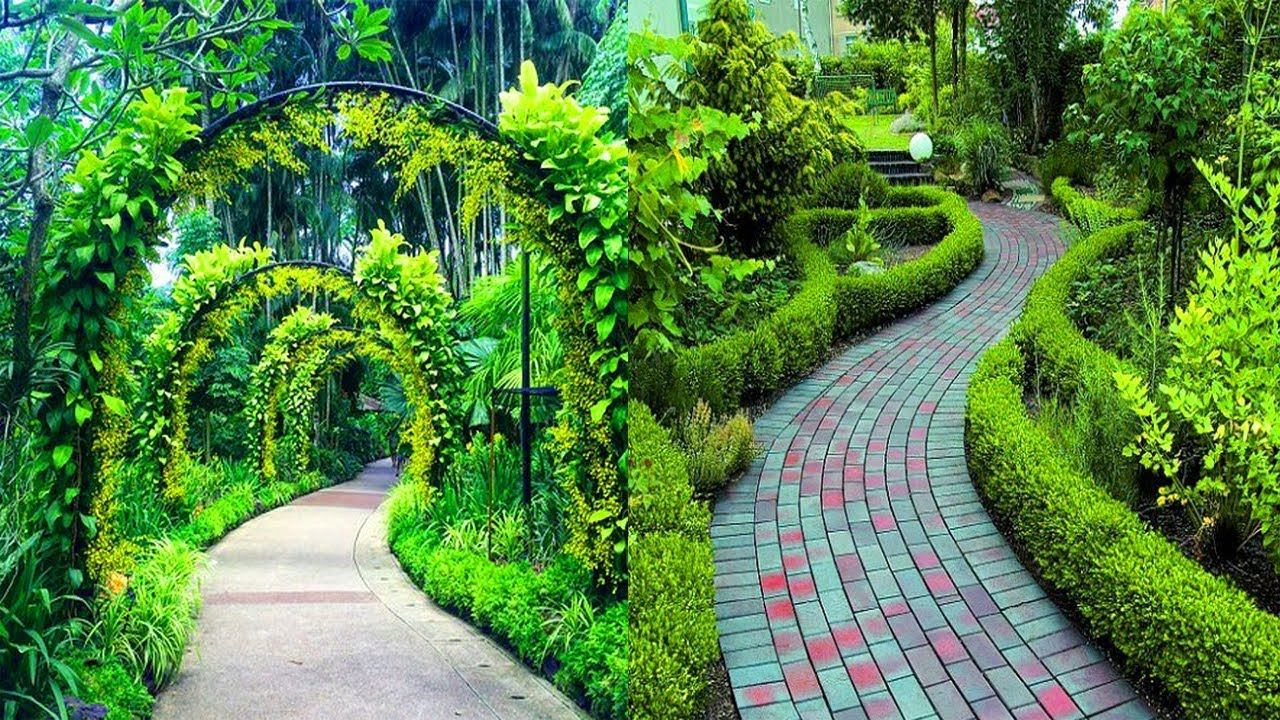 20 Modern Wood & Stone Garden Path Ideas | Cute DIY Garden ...