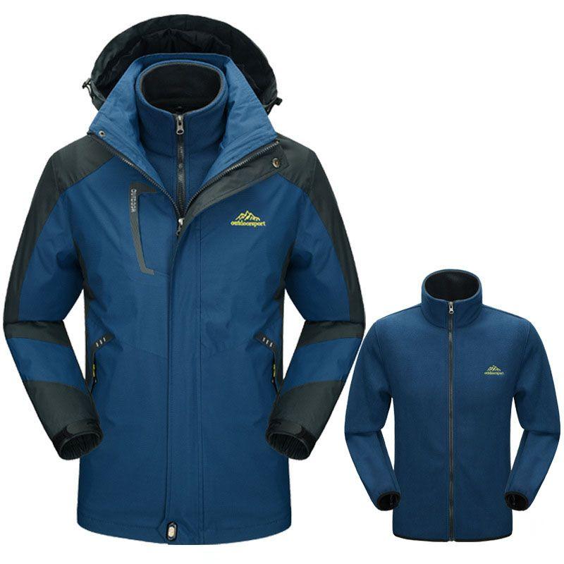 cda9fd352d9db 5XL Men's Winter Thick Softshell Jackets Male Outdoor Inside Fleece ...