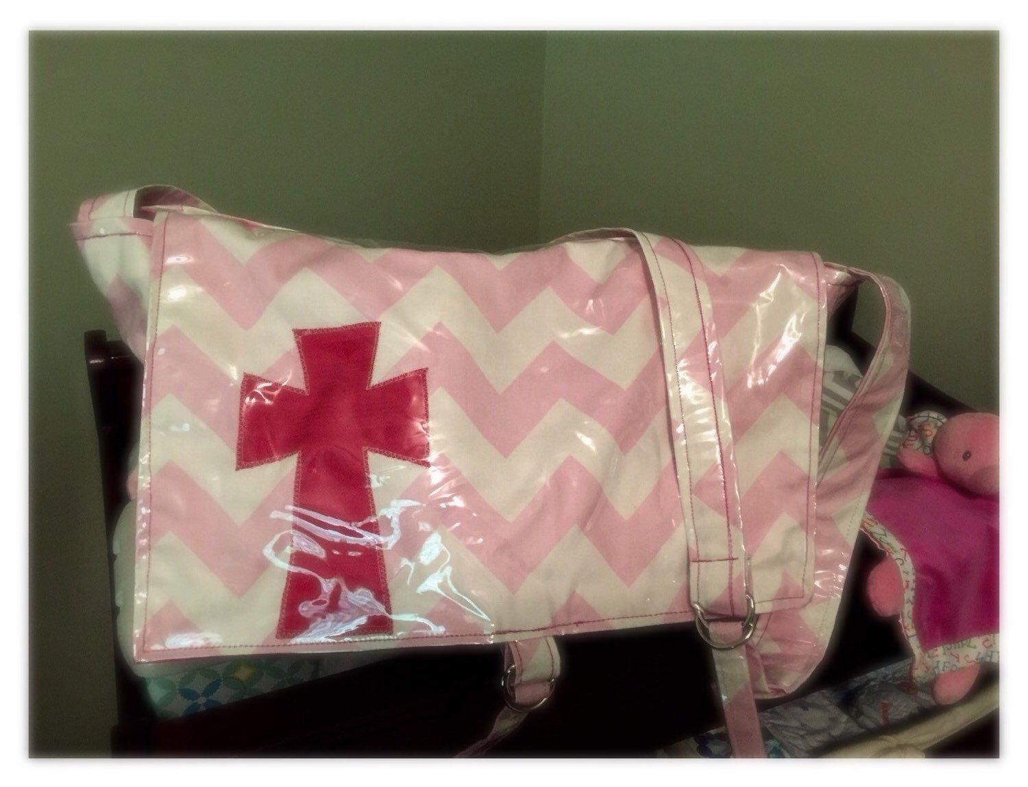 A personal favorite from my Etsy shop https://www.etsy.com/listing/252150604/baby-girls-cross-diaper-bag