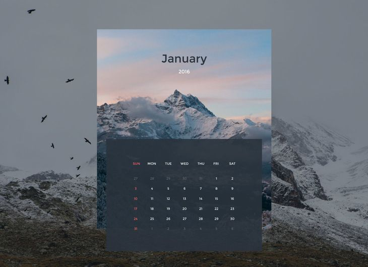 Vector Calendar Template Template Ui Ux And Graphics