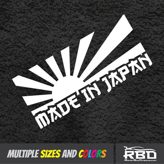 Rising Sun Made In Japan Decal JDM Stickers Vinyl Turbo Window - Vinyl decals car wash