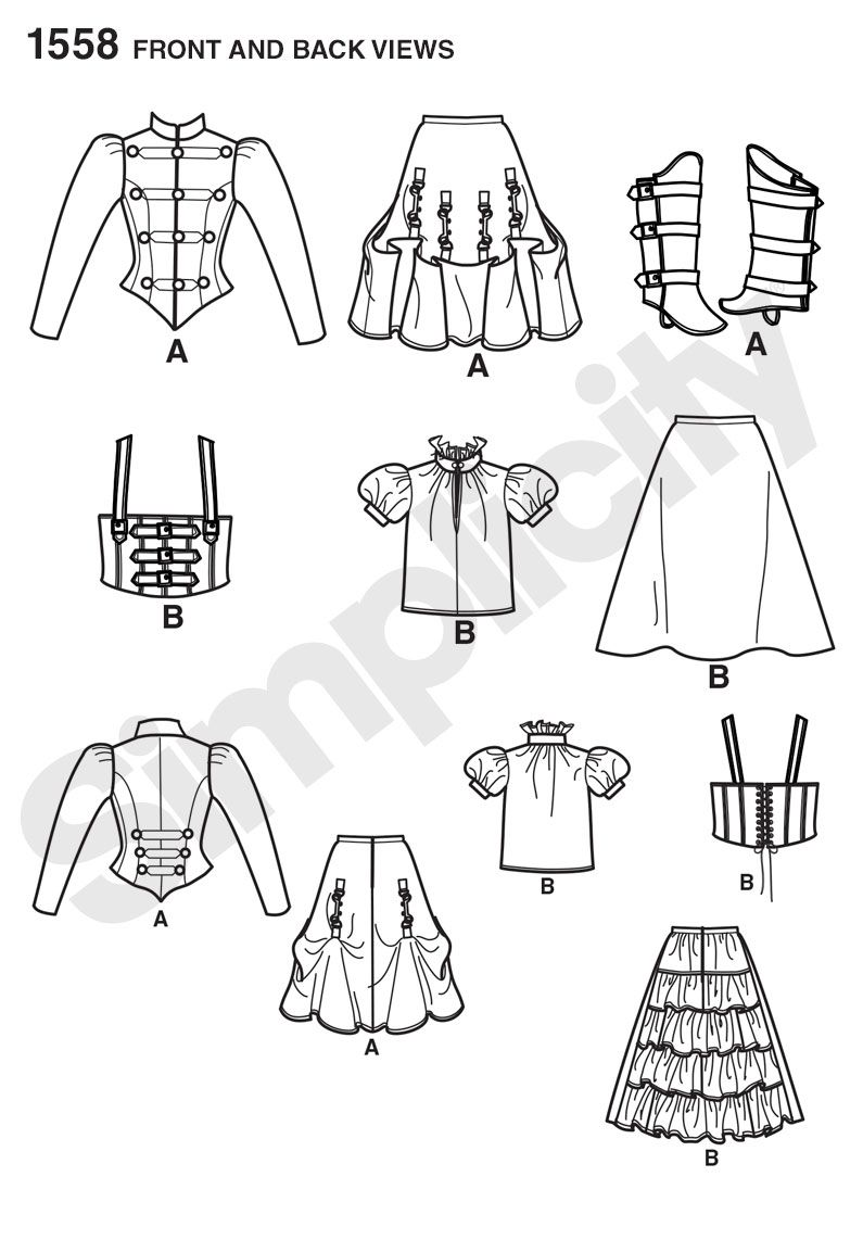 Simplicity Creative Group - Misses\' Steampunk Costume | moldes ...