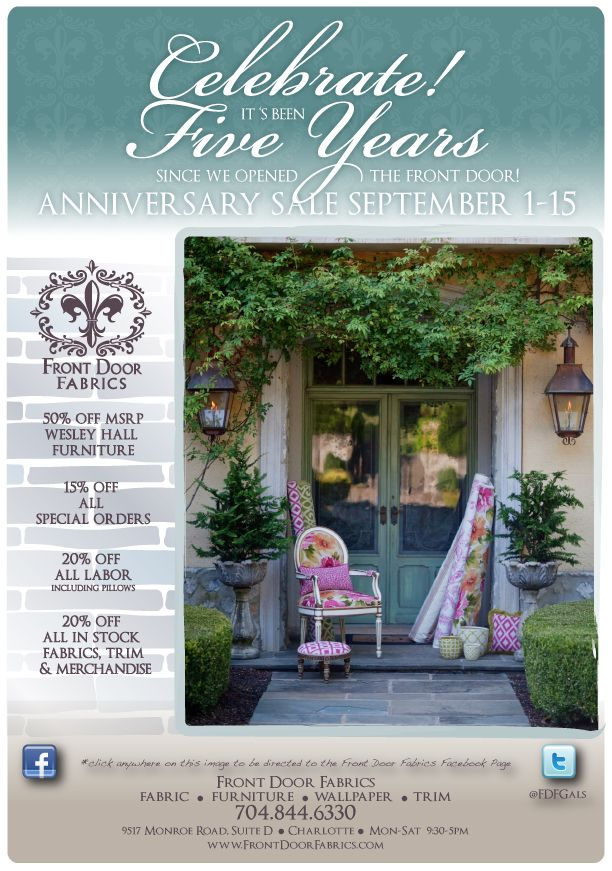 Our 5 year anniversary sale event is on! Visit us Sept. 1-15!!!!