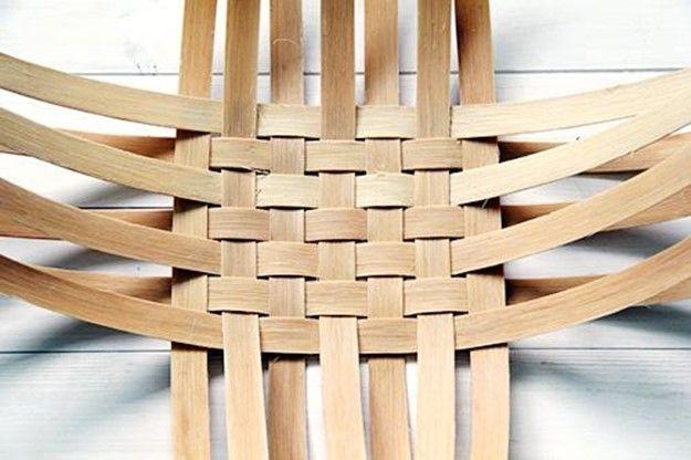 making wood strips Basket