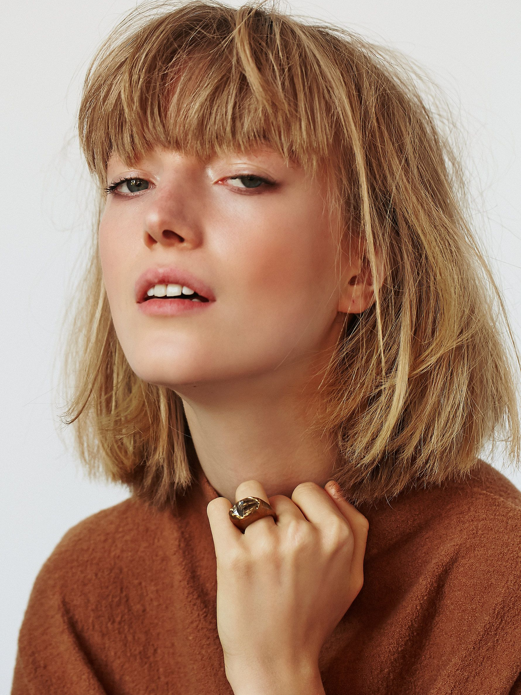 Short blunt bob hairstyle with bangs short hairstyles - Choppy Bob With Bangs Hair Short