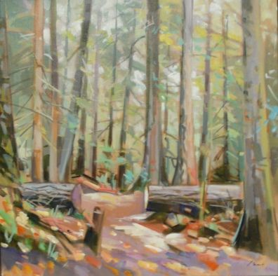 Vest, Jim | Cathedral Grove Study #1 | acrylic on canvas To view this artwork visit us on the Lower Level of your AGA at 2 Sir Winston Churchill Square, Edmonton, Alberta, T5J 2C1 http://www.youraga.ca/artrental | #yegart