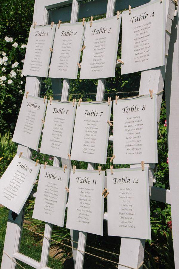 White Window Frame Seating Chart Display | Ceremony/Reception Decor ...