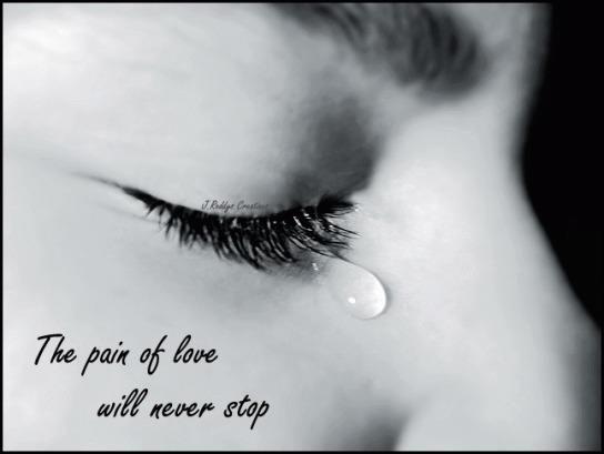 o amor é alegria, e não dor
