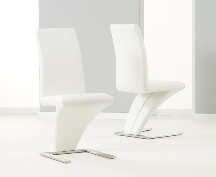 2 X Hampstead Ivory White Z Dining Chairs