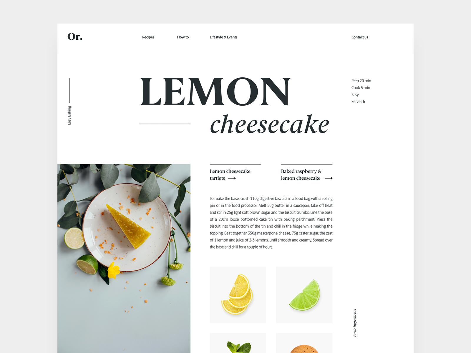 recipe layout super good