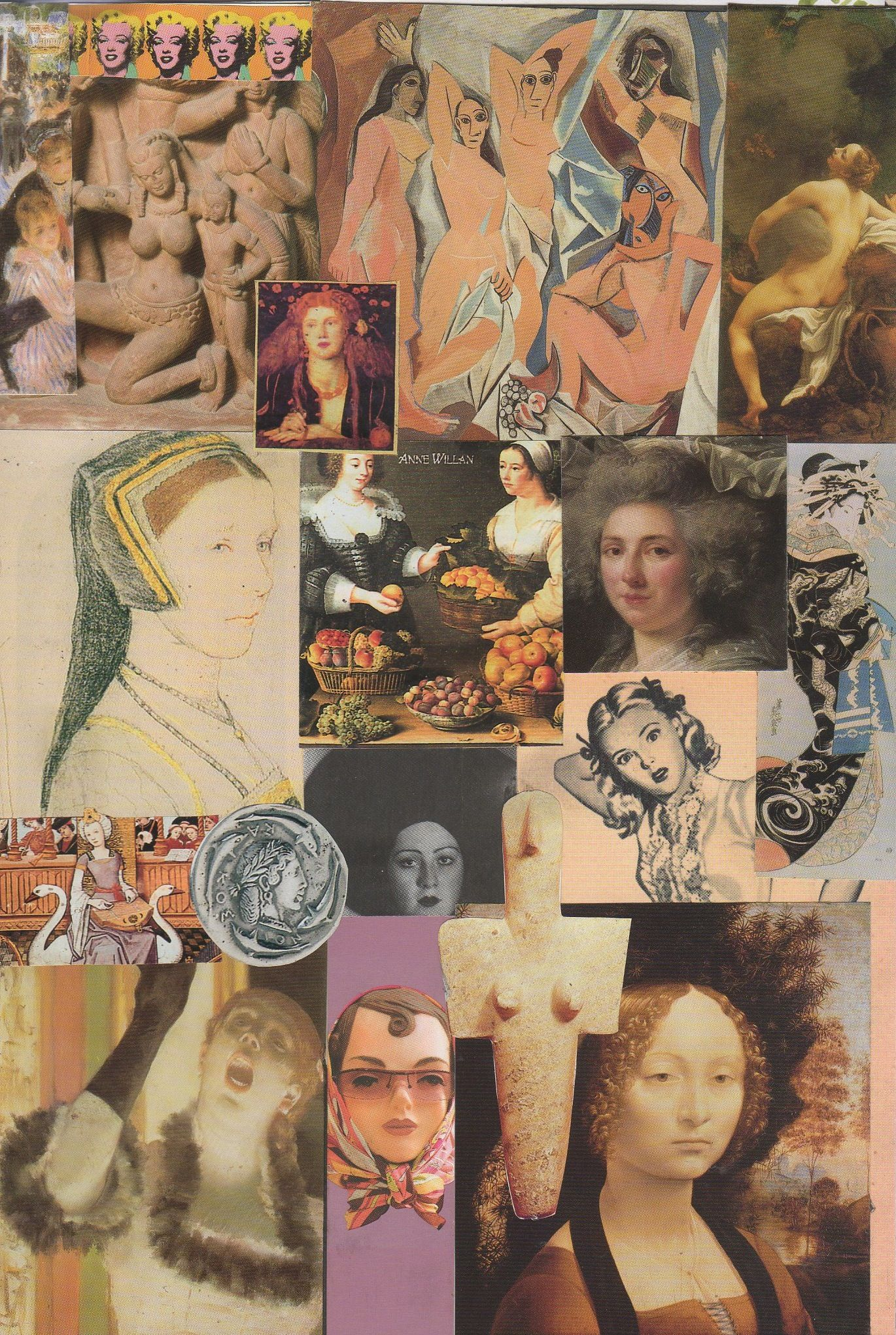 International Women's Day! A collage of women in art, part 2 of 2