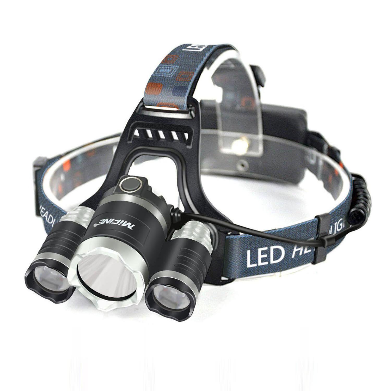 Outdoor Waterproof LED Headlamp USB Rechargeable Bright Light Running Light JD