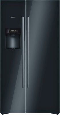 Bosch 638 L Frost Free Side By Side Refrigerator Glass Black