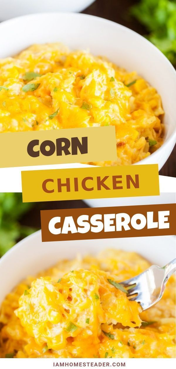Slow Cooker Corn Chicken Casserole - I Am Homesteader