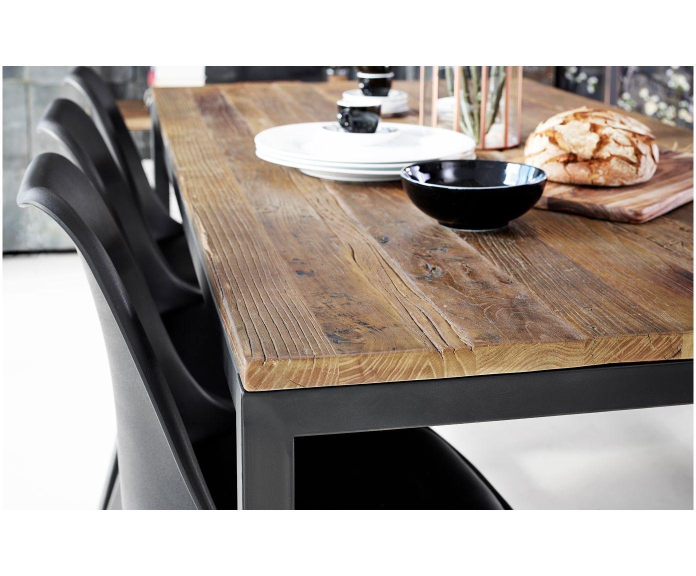 mit dem industrial esstisch vintage aus holz und metall steht dem perfekten dinner nichts mehr. Black Bedroom Furniture Sets. Home Design Ideas