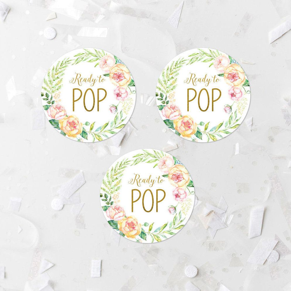 image about Printable Baby Shower Labels named Spring Floral Organized Toward Pop Prefer Label Printable Youngster Shower