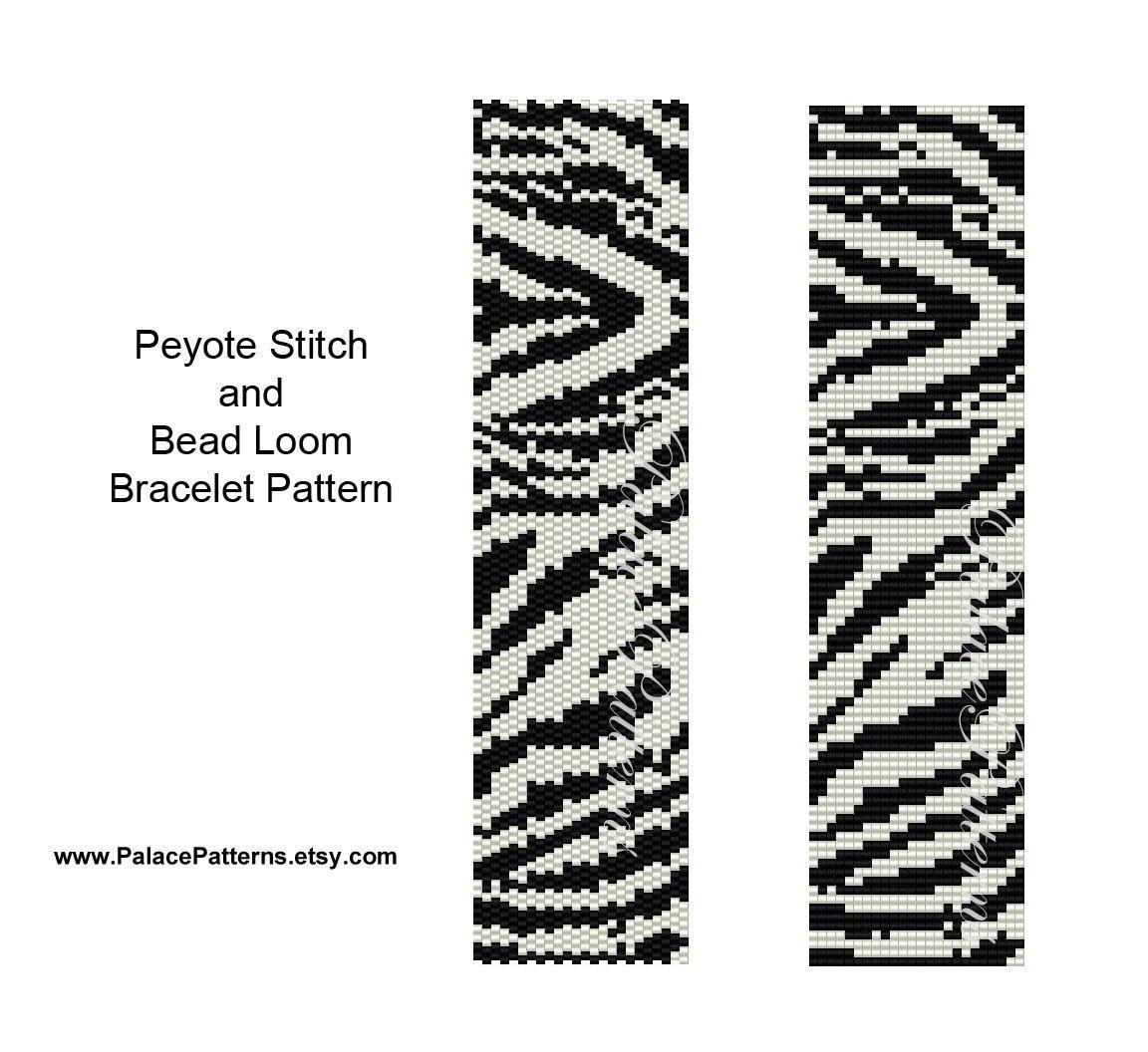 Zebra Stripes Bracelet Pattern for Peyote Stitch by PalacePatterns