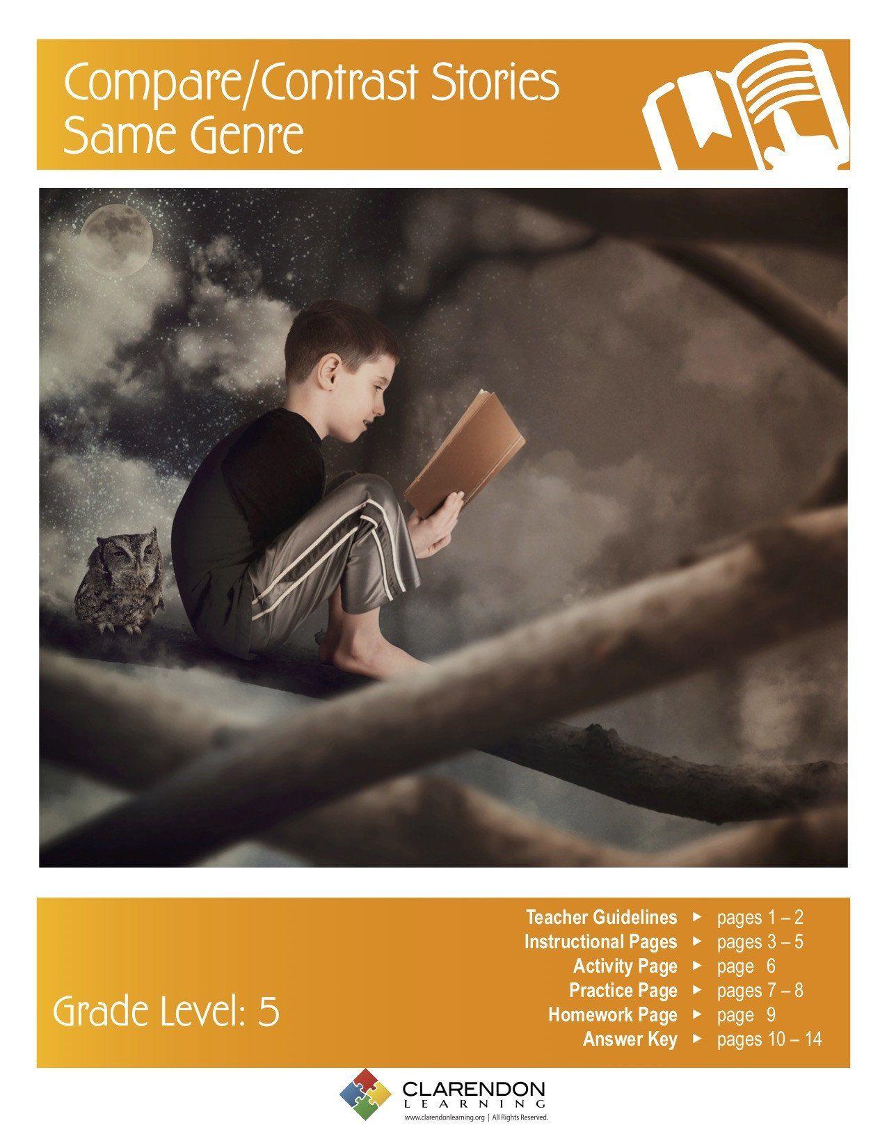 Genre Worksheet 3rd Grade Pare Contrast Stories Same Genre