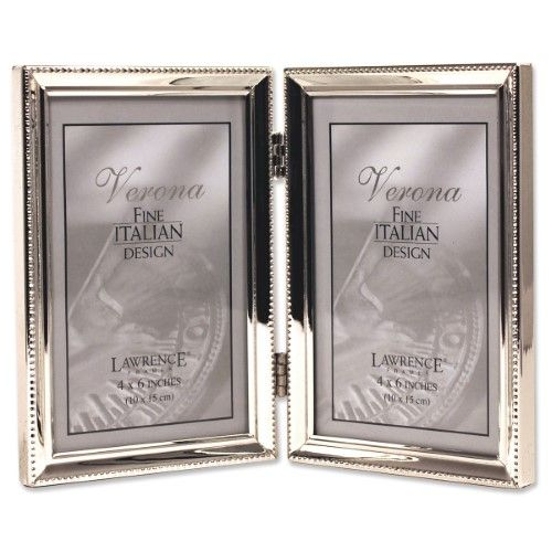 Lawrence Frames Polished Silver Plate Double Hinged Picture Frame