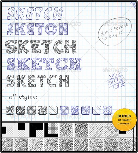 Sketch Text Styles Text Style Sketch Photoshop Photoshop Text