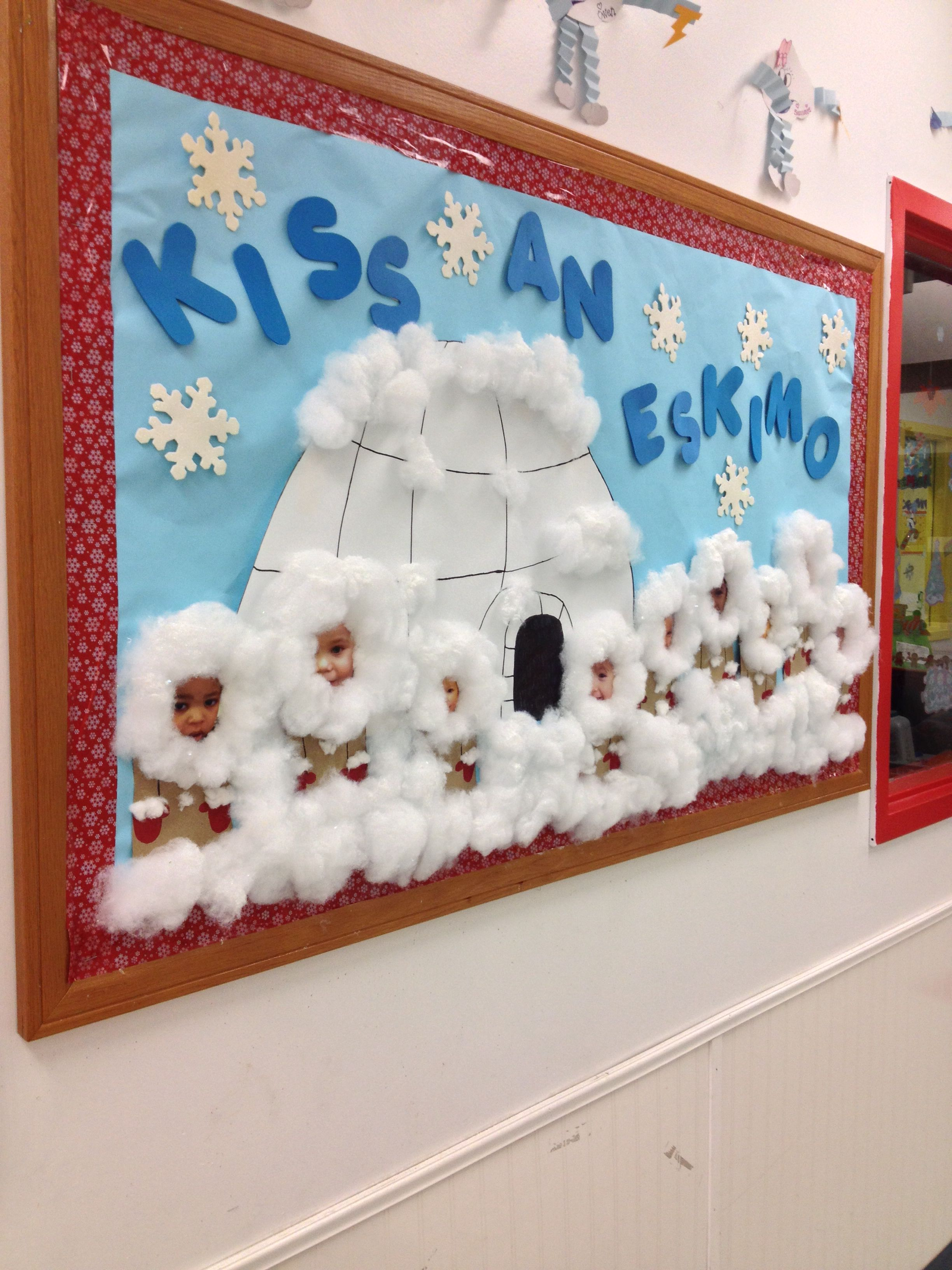 Winter toddler bulletin board toddler room pinterest - Bastelideen winter kindergarten ...