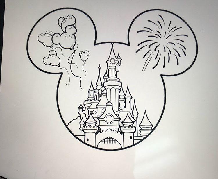 Disney Castle Tattoo Disney Drawings Sketches Disney Castle Tattoo Disney Art Drawings