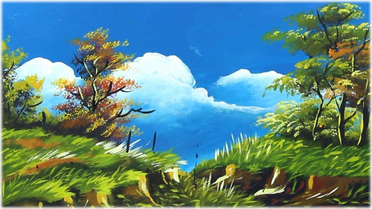 Simple Landscape Painting Nature Scenery Acrylic Painting For Beginners Art Artwork A Landscape Paintings Acrylic Landscape Paintings Nature Paintings