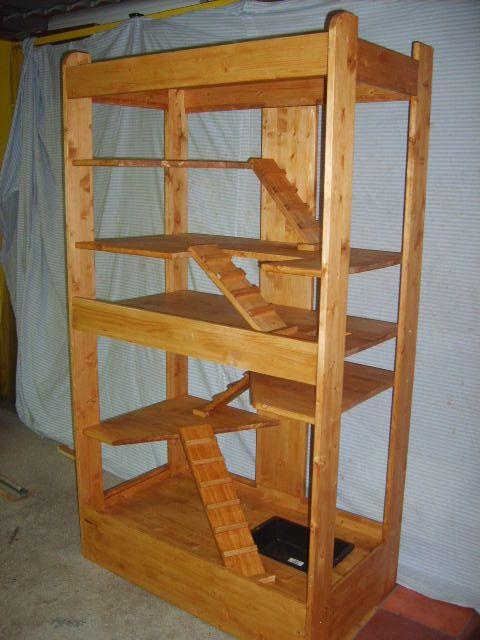 grande cage bois furet   Chinchilla cage, Ferret cage diy, Pet cage