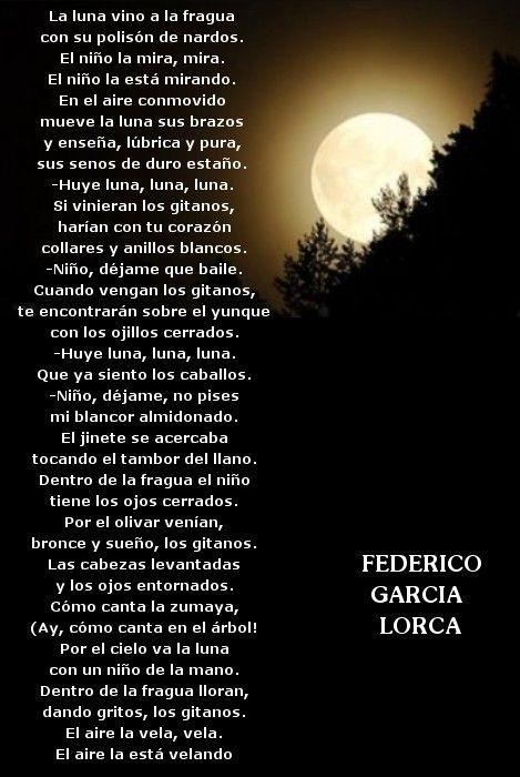 Romance De La Luna Luna Garcia Lorca Poemas Federico Garcia Lorca Poesias De La Vida