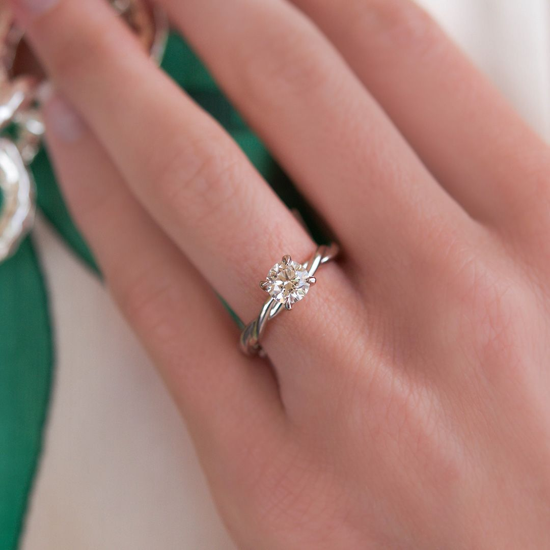 Beautiful diamond solitaire ring handcrafted by Brown & Co.   I DO ...