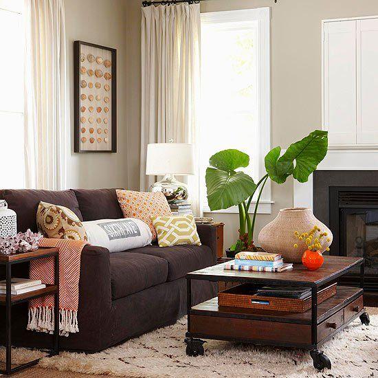 Bildergebnis Fr Einrichten Braunes Sofa