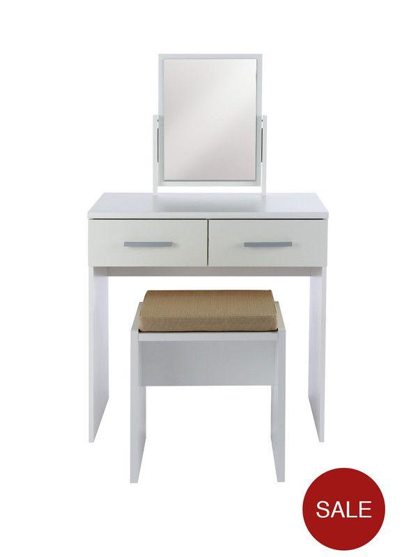 Prague Gloss Dressing Table Stool And Mirror Set Mirror Set - Prague bedroom furniture set