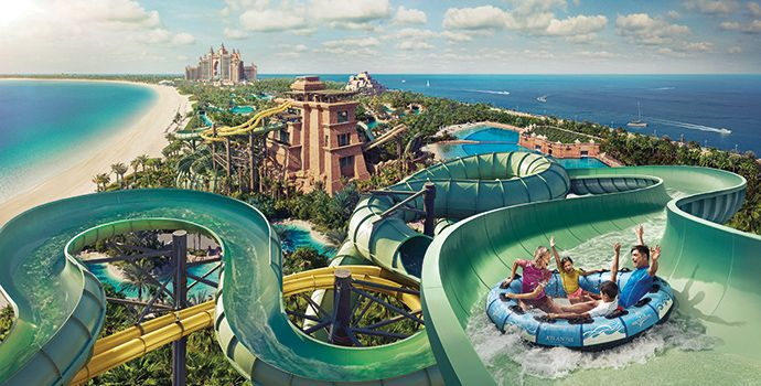 Aquaventure Wasserpark und The Lost Chambers im Atlantis The Palm
