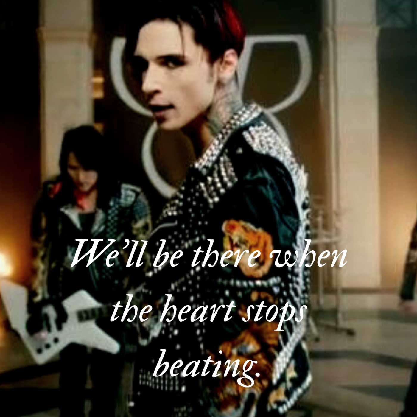 Black veil brides tattoo ideas weull be there when the heart stops beating
