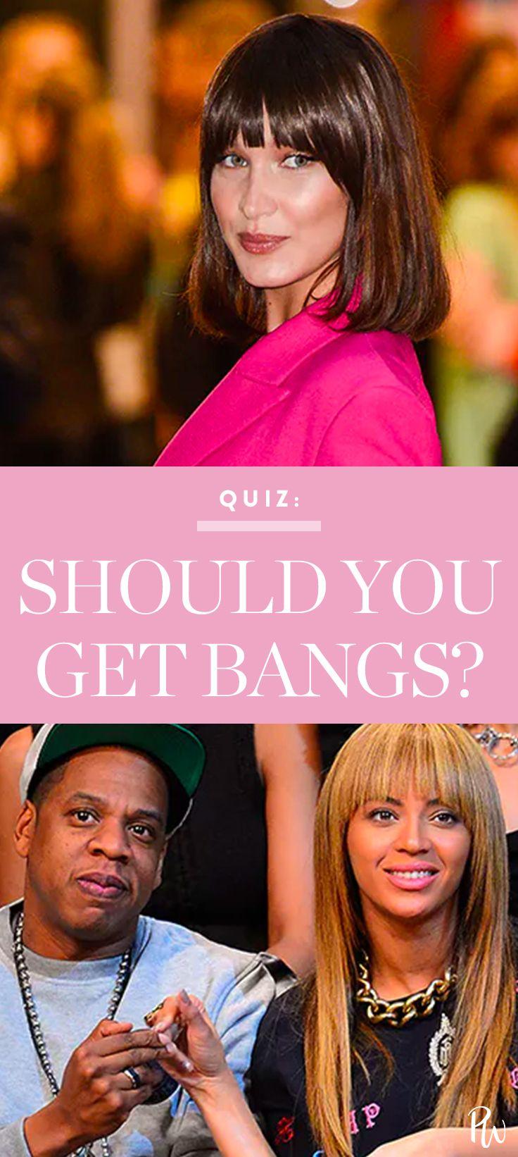 should you get bangs? | hair inspiration | pinterest | bang