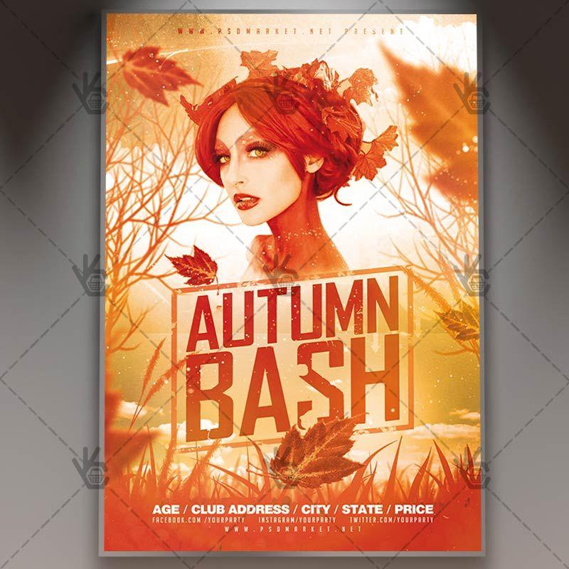 Autumn Bash  Club Flyer Psd Template Autumnclubparty