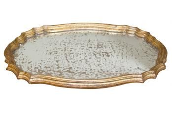 Antique Mirrored Glass Tray available at meizai