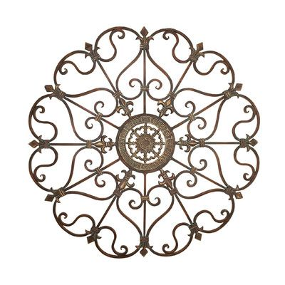 Abchomecollection Metal Fleur De Lis Scrolling Wall Décor Products